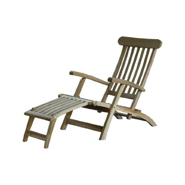 Ambientehome Landu Deckchair Sonnenliege Liege Gartenliege massiv