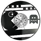 EVEVO PAC - Reloj de pared para hombre, de vinilo, diseño vintage
