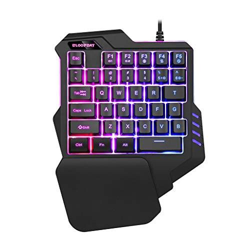 ASAY4u One Handed Keyboard | Gaming keypad | RGB LED Backlit, Macro Keys, 35 Keys for One Handed Gaming Keyboard