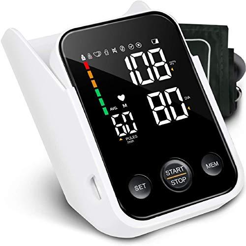 SIMBR Tensiómetro de Brazo Digital, Monitor de Tensión Arterial con Memorias de 2x120 Mediciones, Gran Pantalla LED y Caja de Almacenamiento