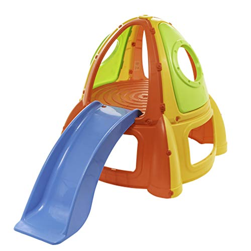 Starplay Apollo Rocket Activity Center Playhouse Climb & Slide Playhouse, Primary Colors