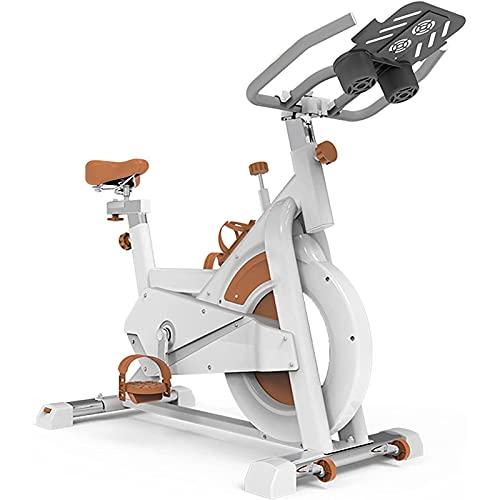 Bicicleta Bicicleta de ciclismo interior, bicicleta de ejercicios for el hogar con una cómoda tracción en la correa silenciosa, el diseño de rodillos se puede mover fácilmente, adecuado for el disposi