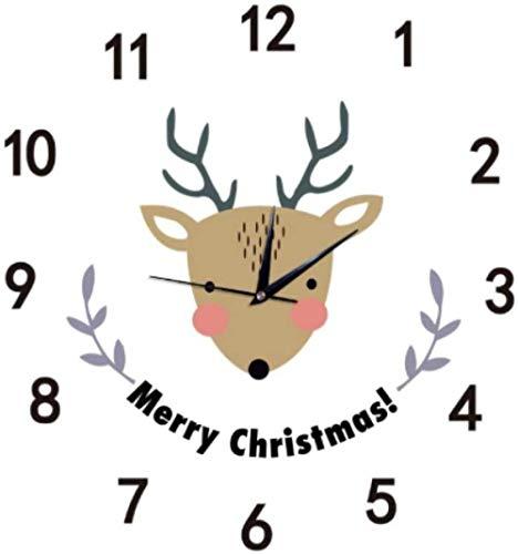 quanjiafu Wanduhr DIY Deer Cartoon Wanduhr Wandbehang Neuheit Klassenzimmer Home Kinder Wanduhr