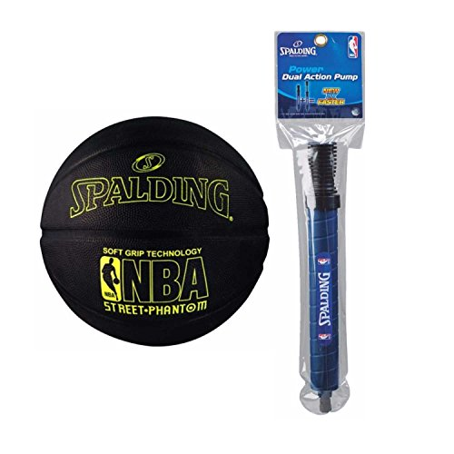 Fantastic Deal! Spalding NBA Street Phantom Outdoor Basketball (29.5, Yellow/Black) and Pump
