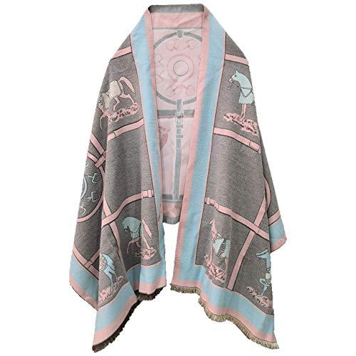 EXTREE Schals für Damen, Winter, Outdoor, Schal, Halstuch, Decke, für drinnen - - Mittel