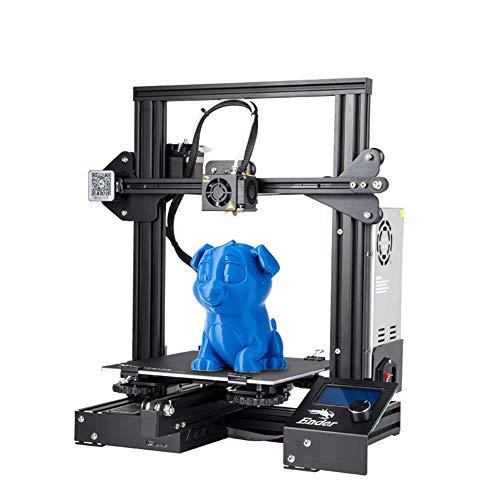 Creality Imprimante 3D Ender-3 avec Impression de Reprise 220 x 220 x 250 mm, Support PLA, ABS, TPU