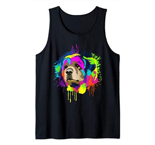Splash Art Leonberger Dueño De Un Perro Regalo Perros Camiseta sin Mangas