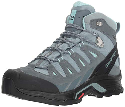 Salomon Women's Quest Prime GTX W Backpacking, Lead/Stormy Weather/Eggshell Blue, 5