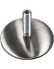 Gedotec regelschroef roestvrij staal met voetplaat Ø 50 mm | schroefdraad M10 | stelvoeten draaibaar | stelschroef lengte 37 mm | 1 stuk - sokkel-hoogte-verstelvoeten voor kasten en meubelpoten