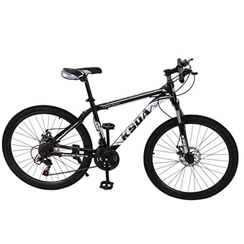 Nihewoo 26 inch 21-Speed ​​Mountain Bicycle Dual Disc Brakes Mountain Bicycle City Bicycle/CTB Outroad Mountain Bike (Black)