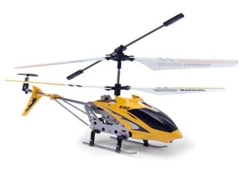 Syma S107G, Elicottero 3 canali a raggi infrarossi con giroscopio, colore: Giallo