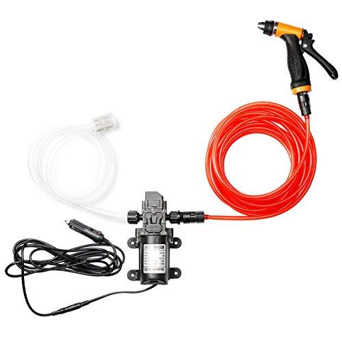 CarBole Bomba de agua de alta presión para lavado de coches, 12 V, 100 W, pulverizador a presión