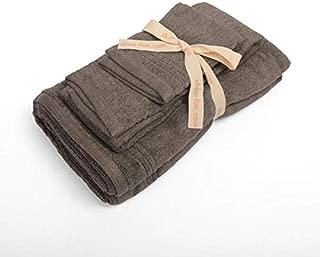 SHOO-FOO Organic Bamboo Charcoal Towels Sets |100% Bamboo | 600 GSM | Ultra Soft | Absorbent | Odor Resistant (3-pcs Set)