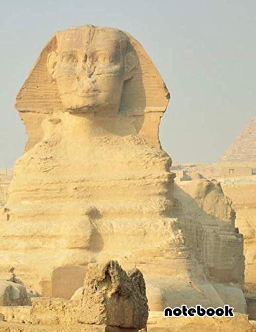 notebook: 8.5x11 cute lined journal | egypt desert egyptian temple giza pyramids