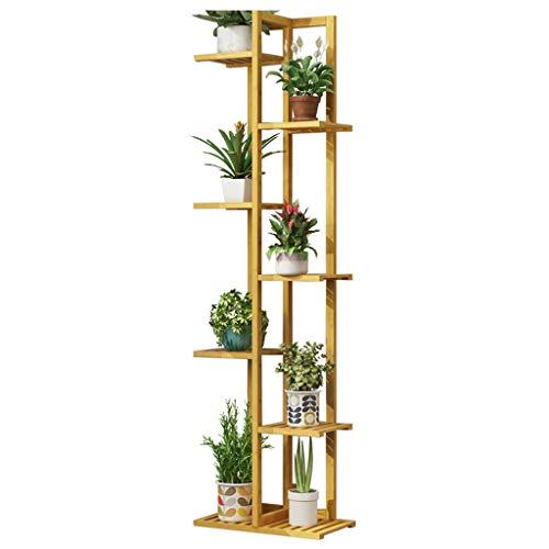CATRP Marque Support Plante Présentoir De Fleurs Avec 7 Niveaux Pour Balcon Bambou Au Sol Plante Stand Jardin Jardin Stand Simple Plateau