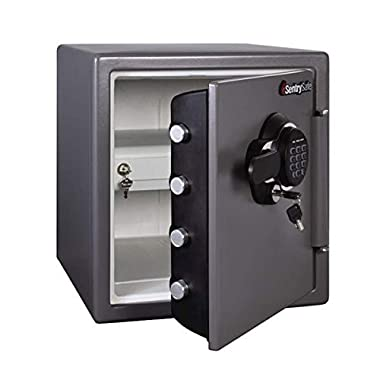 SentrySafe Big Bolts 1-Hour Fireproof & 24-Hour Waterproof Security Safe with Keypad Electronic Lock (1.23 cu. ft.)