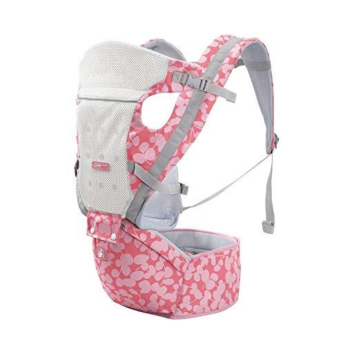 CXYGSSJ Ergonomische Babytrage, Baumwolle/Elasthan Comfort Fabric/Pink Neugeborenes Geschenk (Color : A)