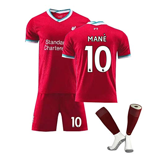 ZGDGG Männer Liverpool Trikots F.C.2020-21 Home Jersey Sommer lose Breath Football Fans,Sadio Mane 10,S
