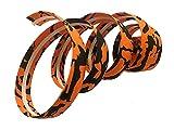 carbonenmy Cinta para manillar de bicicleta con tiras adhesivas, tapones para el manillar para bicicleta de carreras, de montaña, urbana, naranja y negro
