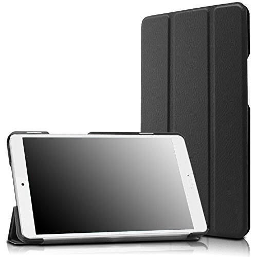 Infiland Huawei MediaPad M3 8.4 Case, Tri-Fold Ultra Slim Stand Smart Case Cover for Huawei MediaPad M3 8.0 Octa Core 8.4' Android Tablet, Black