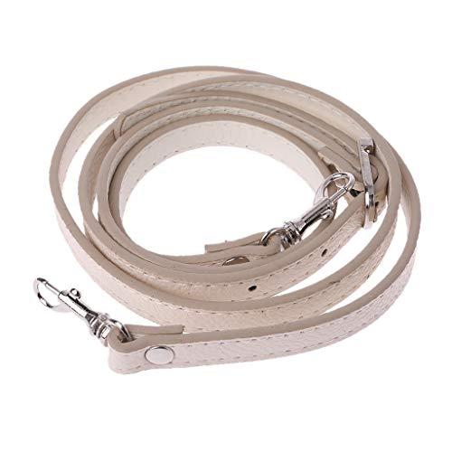 Guilin Shoulder Strap 120cm PU Leather Shoulder Bag Handle DIY Purse Strap Handbags Belts Strap Bags Accessory Beige+Silver