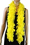 Over 10 Color 25 Gram, 4 Feet Long Chandelle Feather Boa,Kids Feather Boa, Great for Party, Wedding, Halloween Costume, Christmas Tree, Decoration (Yellow)