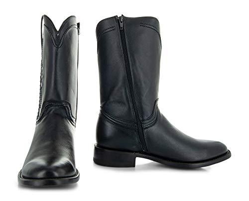 Soto Boots Men's Roper Cowboy Boots H4003 (Black,11)