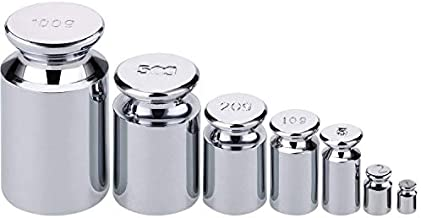 7 PCS Calibration Weights, Scale Calibration Weight Set 1g 2g 5g 10g 20g 50g 100g, Carbon Steel Small Weight, Scale Weights for Digital Scale, Gram Scale Balance, Jewelry Scale (Silver)