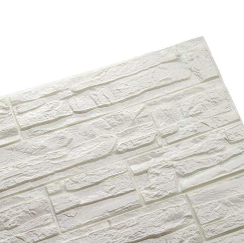 3D Effekt Wandaufkleber Stereo Wandtattoo Selbstklebende Tapete Wand Dekor Aufkleber PE Schaum Wandplatte geschmacklos wandaufkleber tapete für schlafzimmer wohnkultur 60x60cm/Stück (12, Stein)