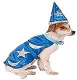 Rubie's Wizard Cape with Headpiece and Light-Up Collar Pet Costume, Medium