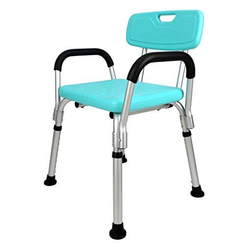 Home Shower Chair Bath/Shower Stool Bathtub Shower Lift Chair Handicap Shower Seats with Removable Armrests Non Slip Leg Pad for Elderly