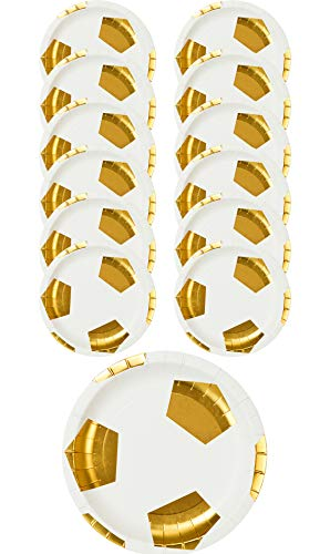 Talking Tables Party Champions Football Shaped Plates - 12PK