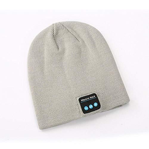 Ysakura Long Slouch Beanie Winter,Stylishe Bluetooth-Mütze, warme Strickmütze, grau-Einheitsgröße,Bluetooth Beanie Wintermütze Musik Mütze Unisex