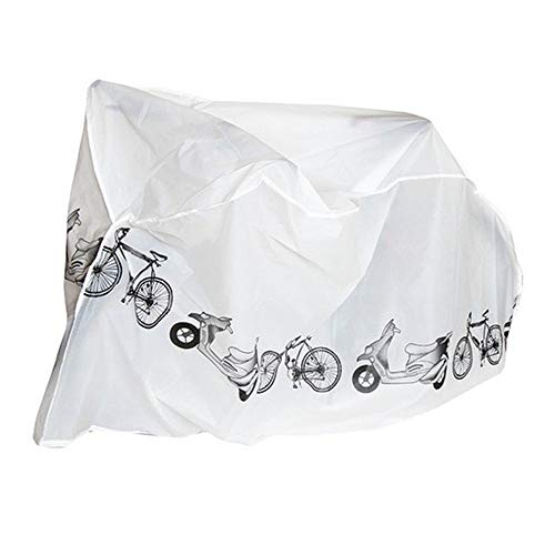 Bike Cover Easy Carry and Fit All Weather Protection Waterproof Bicycle Cover Ideal for Indoor Outdoor (white)