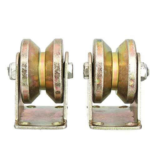 Zubehör 660lb 2 Inch V Typ Rad Schiebetor Roller Stahl Radspur Schiene mit Halterung Casters Maschinen Teile 2ST Zubehör