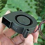 Chenweiwei LCuiling-Getriebemotor Bürstenlosen zentrifugal Wurm Ganggebläse stummstarken Mini kühl Turbo lüfter 3D drucker Teile kühler schwarz Kunststoff, Hohe Energie