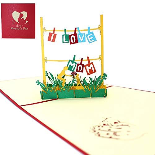 Apanphy Día de la Madre 3D Amor Tarjeta Mother's card,...