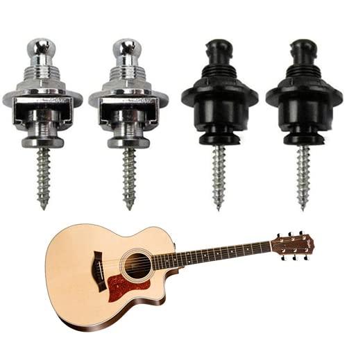4 Piezas Cerraduras De La Correa De Guitarra,Hebilla De Correa De Guitarra...