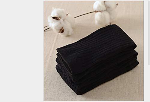 YELLAYBY Kid Polainas for el algodón de Las Muchachas Infantiles del niño del bebé recién Nacido Niños Ocasional sólida Medias niños 0-5T Invierno Caliente Panti (Color : Black, Size : L)