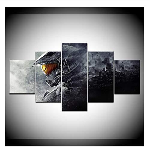 nr Videospiel Wandkunst Wandmalerei Leinwanddrucke Poster Halo Guardians Home Decor Kunstdruck Bild Artwork-40x60 40x80 40x100cm Kein Rahmen