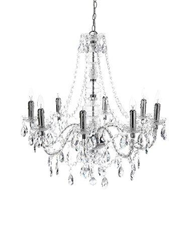 Tomasucci Jewel Lampe mit 8 Lichtern, Transparent, Durchmesser 80 cm/höhe 77 cm
