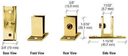 "Brass Medium Set Screw Clamp for 1//4/"" to 5//16/"" Glass"