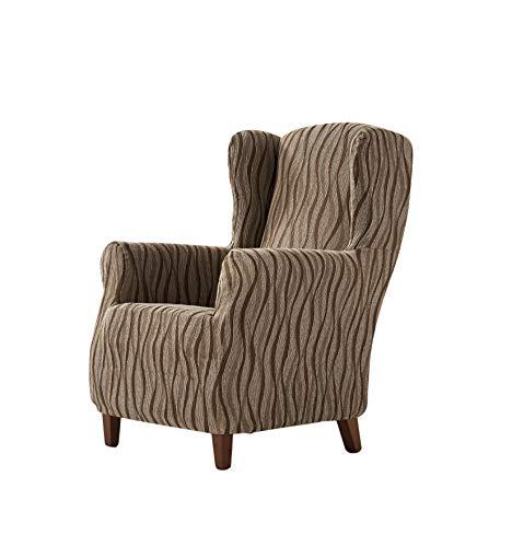Zebra Textil ohrensessel-husse, Braun