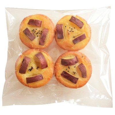 グルテンフリー 天然酵母 米粉パン 五郎島金時 4個セット gluten free bread
