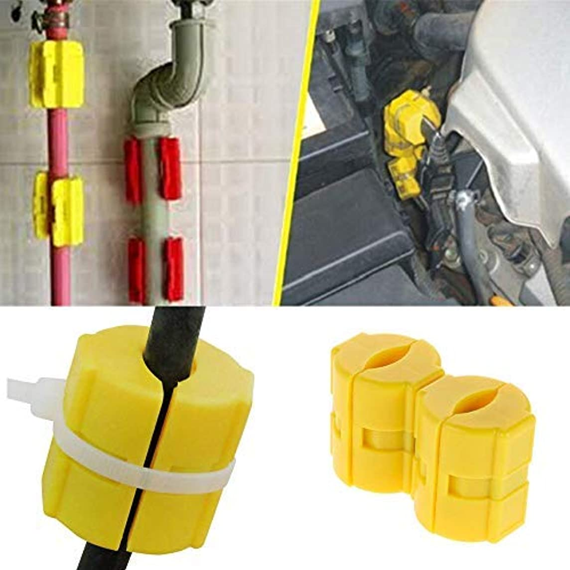 Vovomay 2 Pcs Car/Truck Fuel Saver Gas Savings Magnetic Technology Line Conditioner, Automobile Magnetic Fuel Saver
