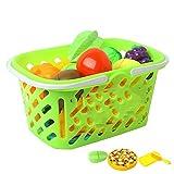 Shhjjyp Alimentos De Juguete Cortar Frutas Verduras Temprano Desarrollo EducacióN Bebé NiñOs Juegos para Cocinar Frutas Verduras Cocina De Juguet Regalo De CumpleañOs para NiñOs,20 pcs