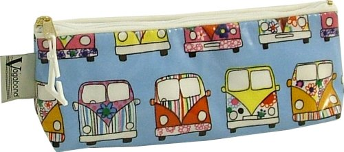 Vagabond Bags Ltd Trousse de maquillage en toile cirée Motif camping-car