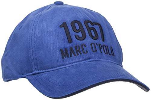 Marc O'Polo Herren 827836401064 Baseball Cap, Blau (Estate Blue 876), One Size (Herstellergröße: OSO)