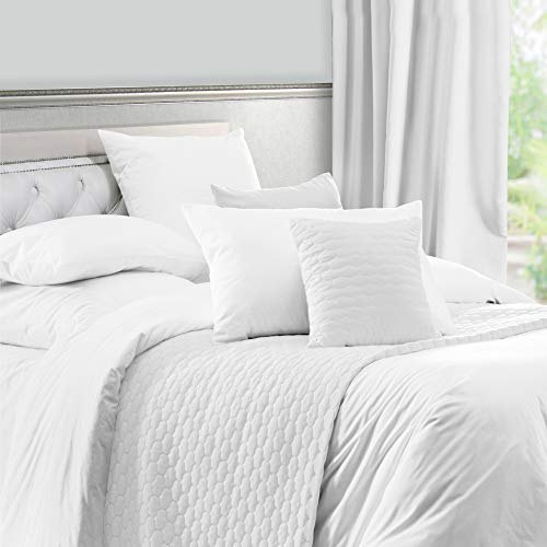 California Design Den White Duvet Cover Full/Queen - 400 Thread Count Sateen Weave 3 Piece Bedding Set, 100% Pure Cotton Comforter Cover and Two Pillow Shams, with Button Closure and Corner Ties