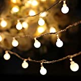 BQuel イルミネーションライト LED ストリングスライト 40星 6m 点滅 点灯 電池式 防水防塵仕様 フェアリーライト 調光可能 ガーデンライト 屋内・屋外兼用 LED クリスマス装飾 飾り ジュエリーライト ハロウィン ウォームライト